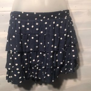 SO short mini blue white polka dot skirt size XL